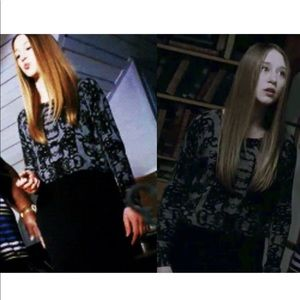 Addison • Rainey Layered Sweater Damask Print XS